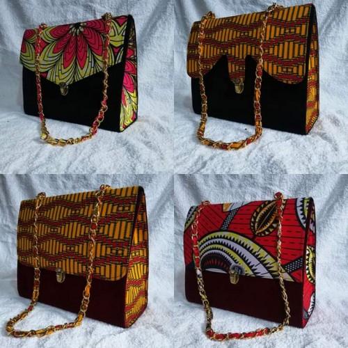 Cotton Ghana fabric handbag