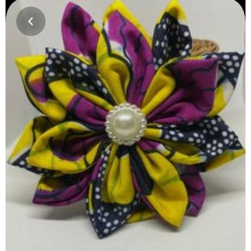 Cotton Ghana fabric brooch