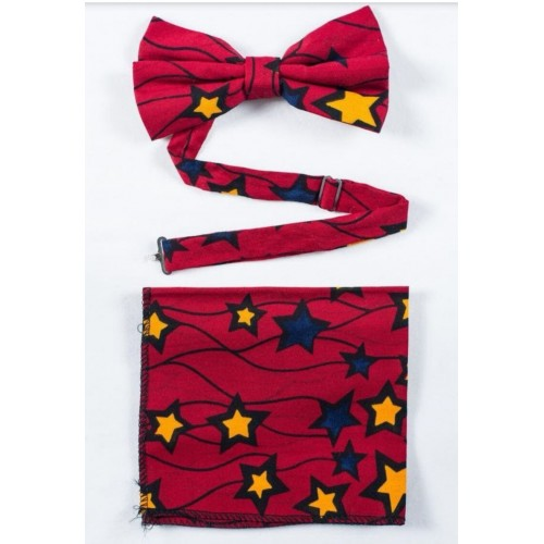 African Print Bowtie and...