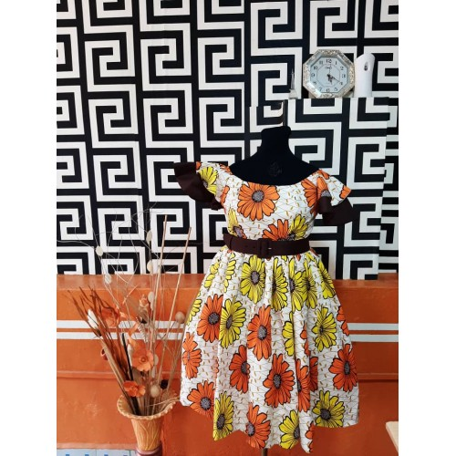 Etsiwa gathered dress with...